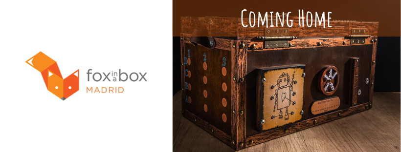 Cabecera de la reseña de la escape room tipo escape hall Coming Home, de Fox in a Box en Madrid