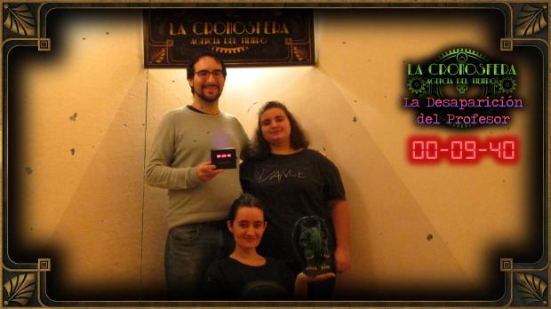 Foto final de la sala de escape la desaparición del profesor, de La Cronosfera en Madrid