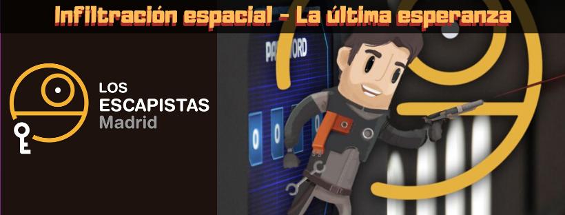 Cabecera de la reseña de la sala de escape Infiltración espacial: la última esperanza, de Los Escapistas en Madrid