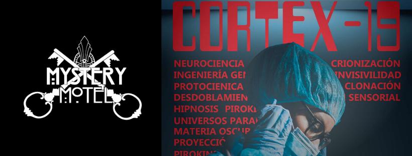 Cabecera de la reseña de la sala de escape 101 Cortex-19, de Mystery Motel en Murcia