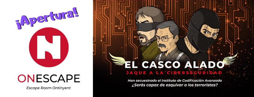 "Cabecera de la entrada de apertura de ""El casco Alado"", de OnEscape en Ontiyent"