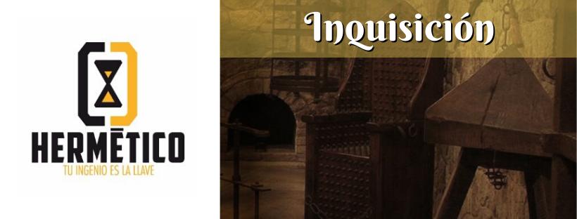 """Cabecera de la reseña de la sala de escape """"Inquisición"""", de Hermético en Madrid"""