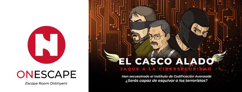 """Cacecera de la reseña de la escape room """"El casco alado"""", de OnEscape en Onteniente"""